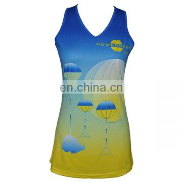 Custom sublimation sexy girls wholesale running singlet