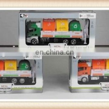 free wheel die cast trailer truck toy