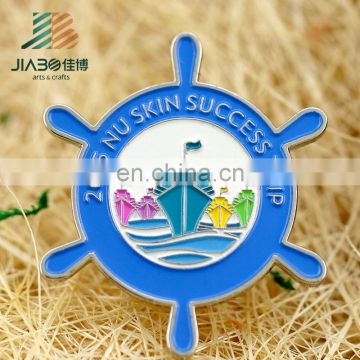 wholesale silver plating custom metal sunflower lapel pin