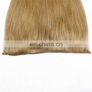 "dropshipping alli express 18"" silky straight remy filipino virgin hair halo human hair extension"