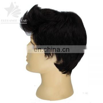elegance star Credible supplier unprocessed factory price high quality natural Brazilian human short hair wig men