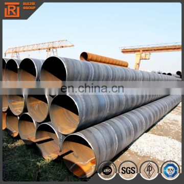 Large diameter spiral steel pipe on sale price pipe saw api 5l q235 material low carbon steel pipe