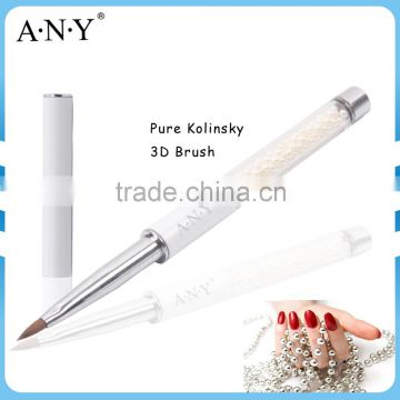 ANY Nail Art Design Care Pure Color Pearl Handle Pure Sable Nail Art Brush                                                                         Quality Choice