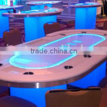 Miraculous Electronic Poker Table With Led Light And Wooden Leg Of Led Beutiful Home Inspiration Xortanetmahrainfo