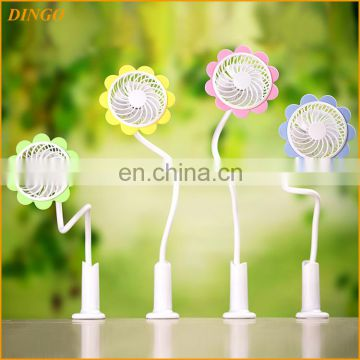 2016 Fashion Super big wind rechargeable Clip USB Mini Fan