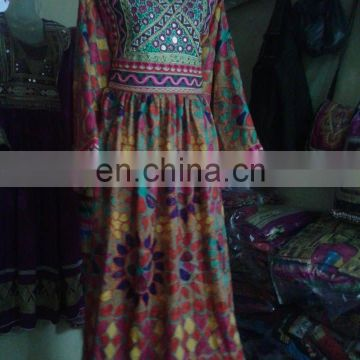 (KD-9) Beautiful Tribal Afghan Kochi Dress with Ethnic Kuchi Embroider
