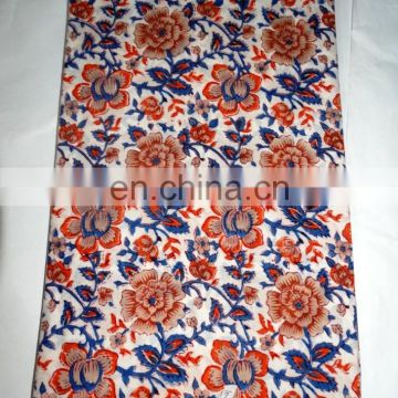 Hand Block Print Handmade Cotton Indian Fabric Sewing Running Print