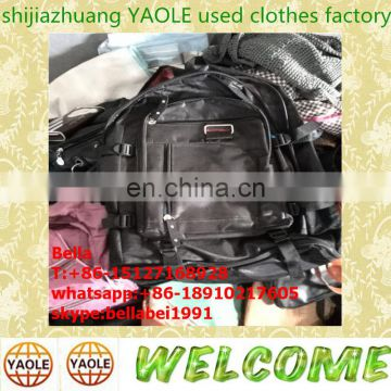 bales of mixed used clothing shoes and bag, used bags factory