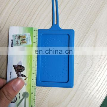 custom silicone travel luggage tag in different color
