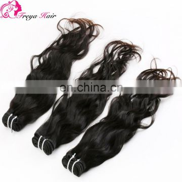 Full stock factory price high quality grade 7a chinese virgin hair natural color and wave chinese hair bundles