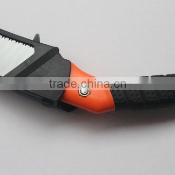 High grade curved pruning saw with ABS+TPR handle hand saw garden saw Model: P-406B