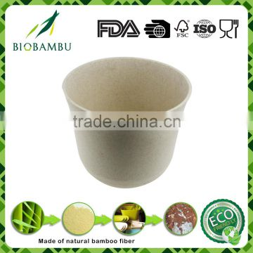 Factory hot sale indoor bamboo fiber garden flower pot