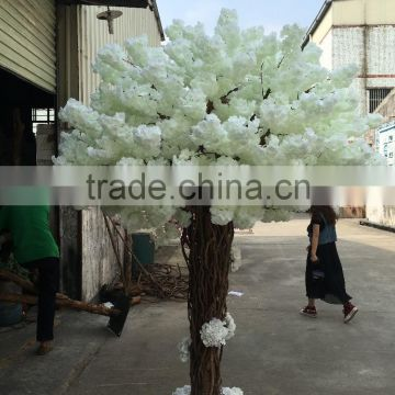 artificial white cherry blossom trees for wedding decoration