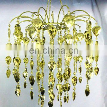 Lime Green Waterfall Beads Acrylic Chandelier
