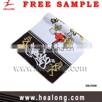 Sublimation Customized Logo Gym Sport Personalized Cleaning Cartoon Towel Design