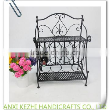 KZ140130 High quality birdcage iron wire metal display standing floor wine rack                                                                         Quality Choice