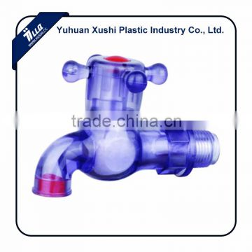 plastic facotry Colorful crystal violet bib tap fruit orchard garden 1/2 inch 3/4 inch DN15 DN20 PVC bibcock