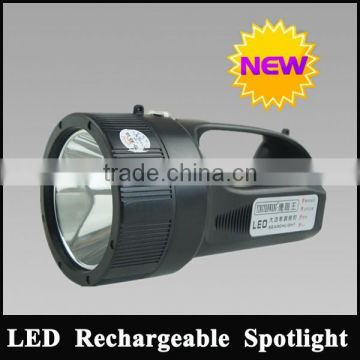 10W 810lm led handheld rechargeable battery powered search spotlight with belt