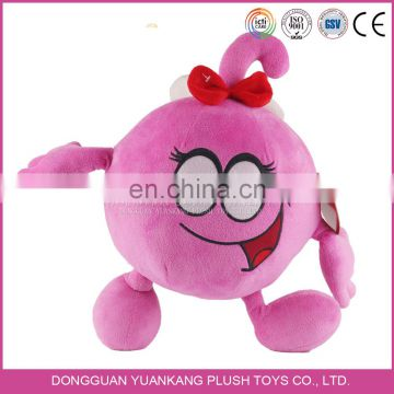 Custom plush cute emoji cartoon soft toy