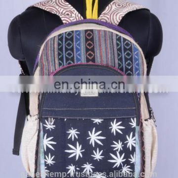 Kids Fashionable Canvas Hemp Backpack HBB 0036