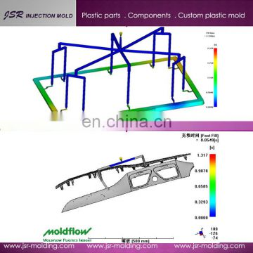 Customized 3D mold design and mold flow analysis software for car parts