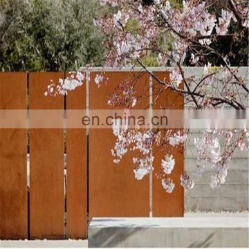 cheap modern corten steel fence post fence gate for divider