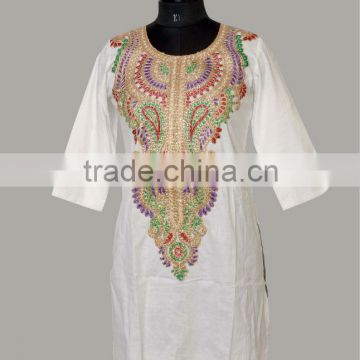 Embroidery Kurti Cotton Kurti Hand Embroidery Design Ladies Top Of