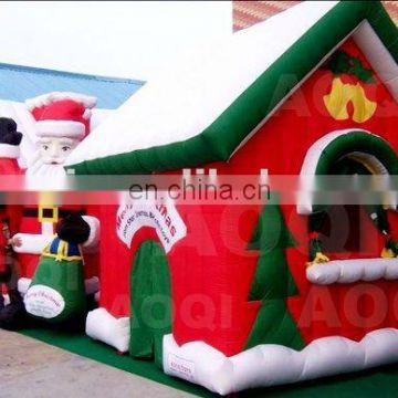 Hot sale advertising inflatable Christmas house for kids for party