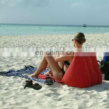 Inflatable Back Wedge Pillow For Beach