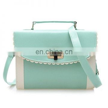Sweet Color Block and Engraving Design Women's Crossbody Bag