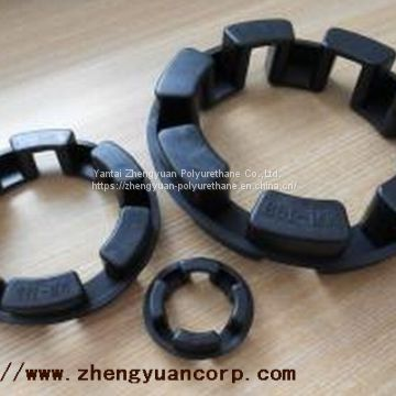 polyurethane spider coupling insert for flexible jaw type