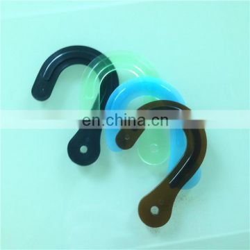 Plastic hook for fabric displays