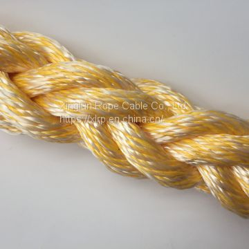 8 Strand Polypropylene Polyester Mixed Mooring Rope