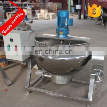 Full stainless steel jacketed industrial cooking kettle/industrial steam pressure kettle/jacketed cooker