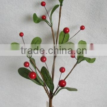 "newest special artificial holly leaves and foam red berry pick 15"" branches pick for chrismas home decoration pick"