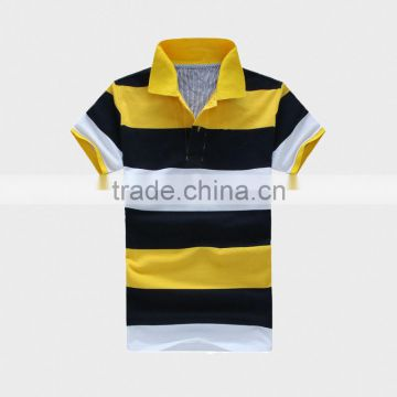 Stripe Men's Polo Shirt with Ribbon