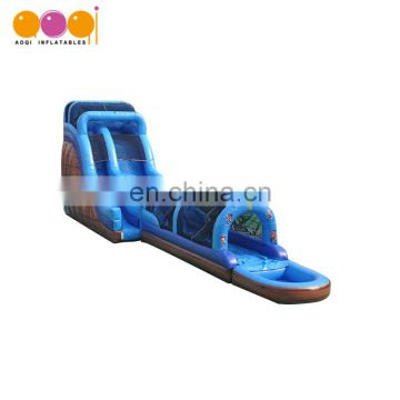 Professional supplier residential adult swimming pool water slide inflatable for holiday resorts