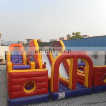 Durable indoor playground equipment inflatable obstacle with high quality