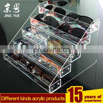 4 tiers acrylic glasses organizer, Acrylic eyeglasses drawer boxes