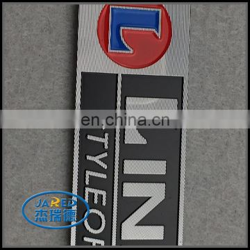 Custom Embossed Logo and Name Adhesive Brushed Metal Painting Aluminum Label for Cars