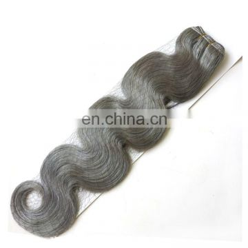 Wholesale Virgin Remy Human hair silky straight wave Brazilian Cheap gray hair weave