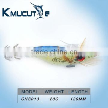Chentilly CHS013 Super popular big eyes hard body squid jigs sharp hooks and luminous body OEM accept for fishing shop