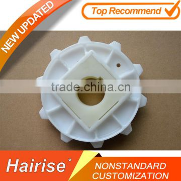 CNC machine machining Injection products nylon pulley wheels pom chain sprocket for belt conveyor