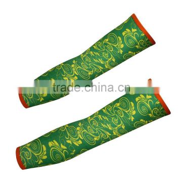 1Pair Outdoor Sport Printed Bicycle Basketball Sun Protective Arm Sleeves