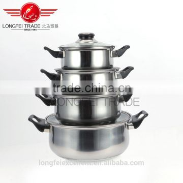 011274 high quality unique handle popular steel sets cheap hot sale stainless steel cookware