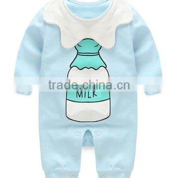 customized unisex gender baby rompers 0-3-6months adorable printing wholesale good quality baby sleeve babysuits
