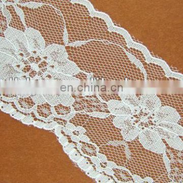 white wide stretch lace