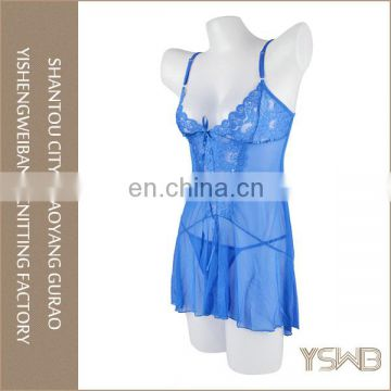 Customized high quality cotton thin fashion lace first night sexy lingerie
