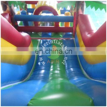 2016 cheap inflatable children playground/durable forest inflatable obstacles
