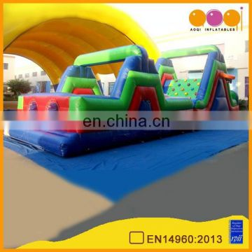 AOQI hot attractive kids obstacle course equipment/interactive inflatables